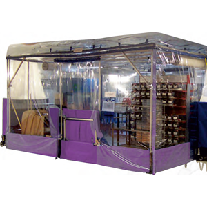 Flexible Clean Room Isolation Pod - capacity for up to 10 Mouse/Rat Cage Racks. 4 x 4 x 2.4H metres.