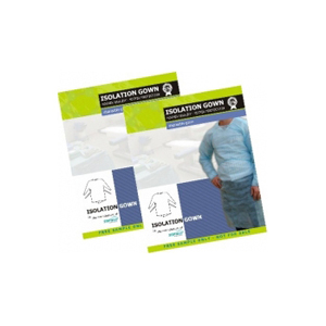 Isolation Gowns Premium Quality 25gsm PP 10/Bag 100/Box