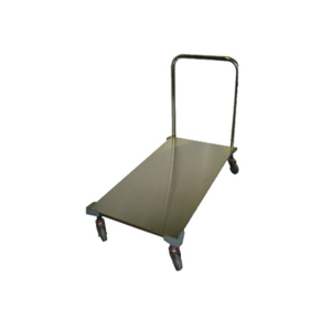 S/S Flat Bed Trolley With Bumpers Lge