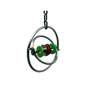 Aurora S/Steel Ring with Spinning inner Ring with Rattles 150mm