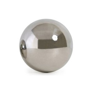 Reflective Rolling Ball 90mm Shiny S/Steel Filled with Sand